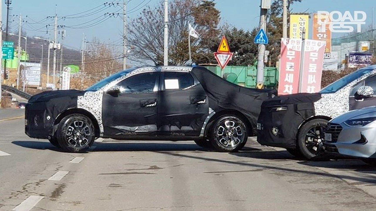El esperado Hyundai Santa Cruz vuelve a ser cazado a plena luz del día