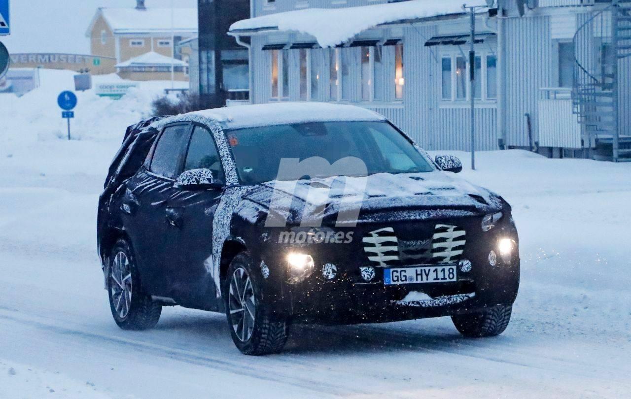 La nueva generación del Hyundai Tucson vuelve con más camuflaje a las pruebas invierno