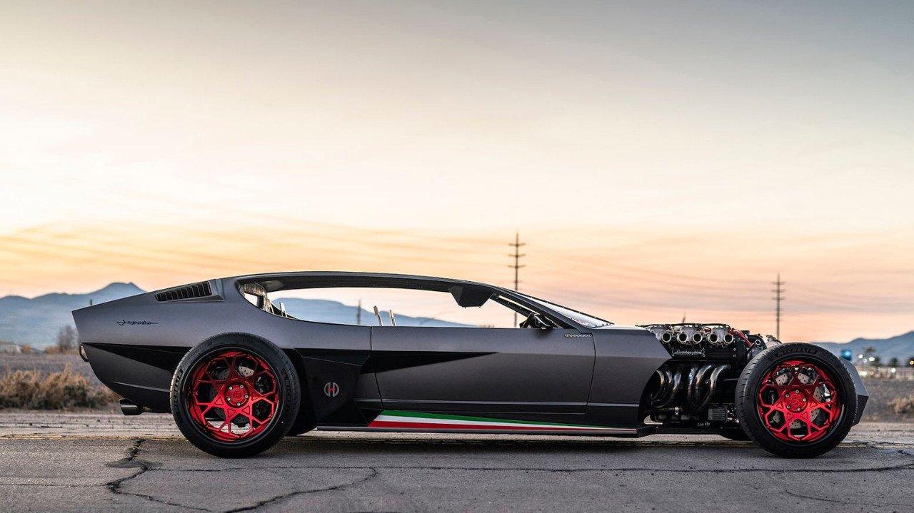 El brutal Lamborghini Espada cyberpunk de Danton Art Kustoms a subasta