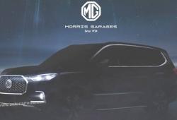 MG adelanta el teaser del nuevo Maxus D90, un SUV de grandes proporciones para India