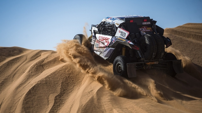 Atípica octava etapa para los líderes del Dakar en coches