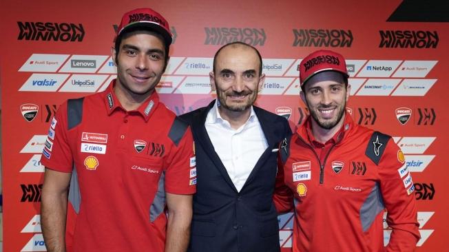 Se presenta la Ducati Desmosedici GP20 de Dovizioso y Petrucci