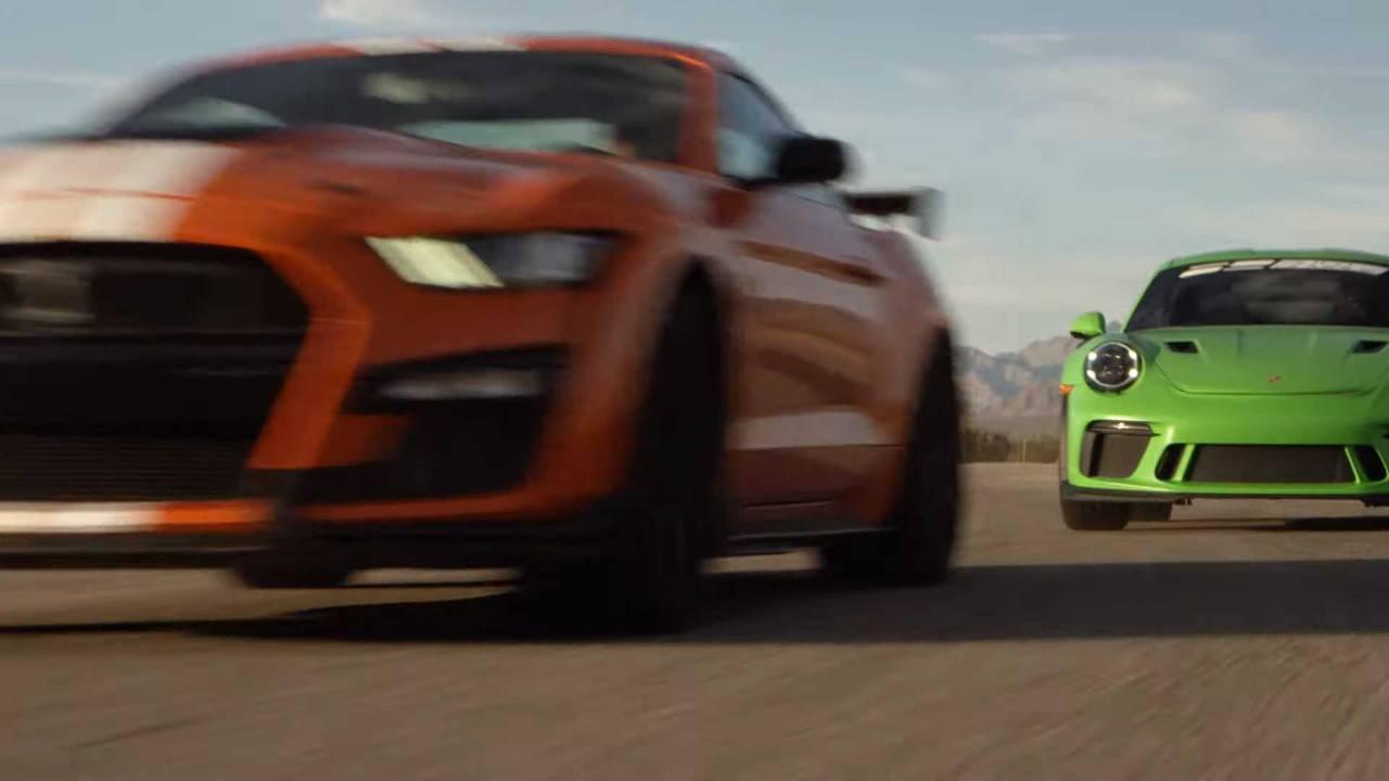 El Shelby GT500 frente al Porsche 911 GT3 RS y al Ferrari 812 Superfast [vídeo]