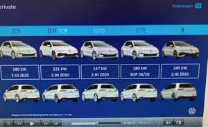 Una filtración confirma los Volkswagen Golf GTI, GTD, GTE, GTI TCR y Golf R para 2020