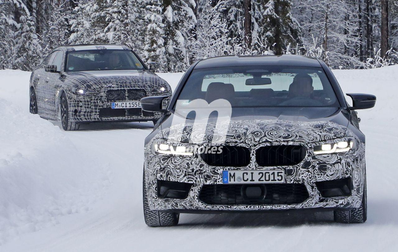El BMW M5 Facelift pierde camuflaje en estas fotos espía de las pruebas de invierno