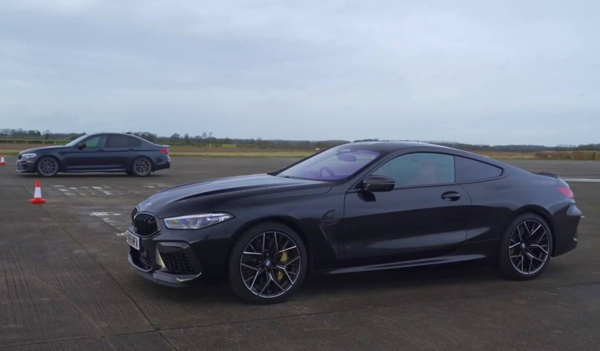 BMW M5 vs. BMW M8. Drag race fratricida con el mismo V8 de 625 CV