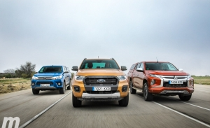 Toyota Hilux vs Ford Ranger vs Mitsubishi L200, comparativa de pickups (con vídeo)