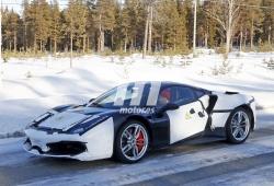 Cazamos una nueva mula híbrida de Ferrari en la nieve