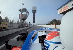 Primera vuelta de Russell con el Williams FW43, en vídeo