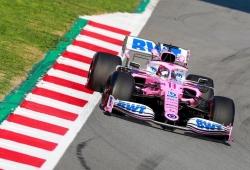 Sergio Pérez hace debutar el Racing Point RP20 en el test de Barcelona