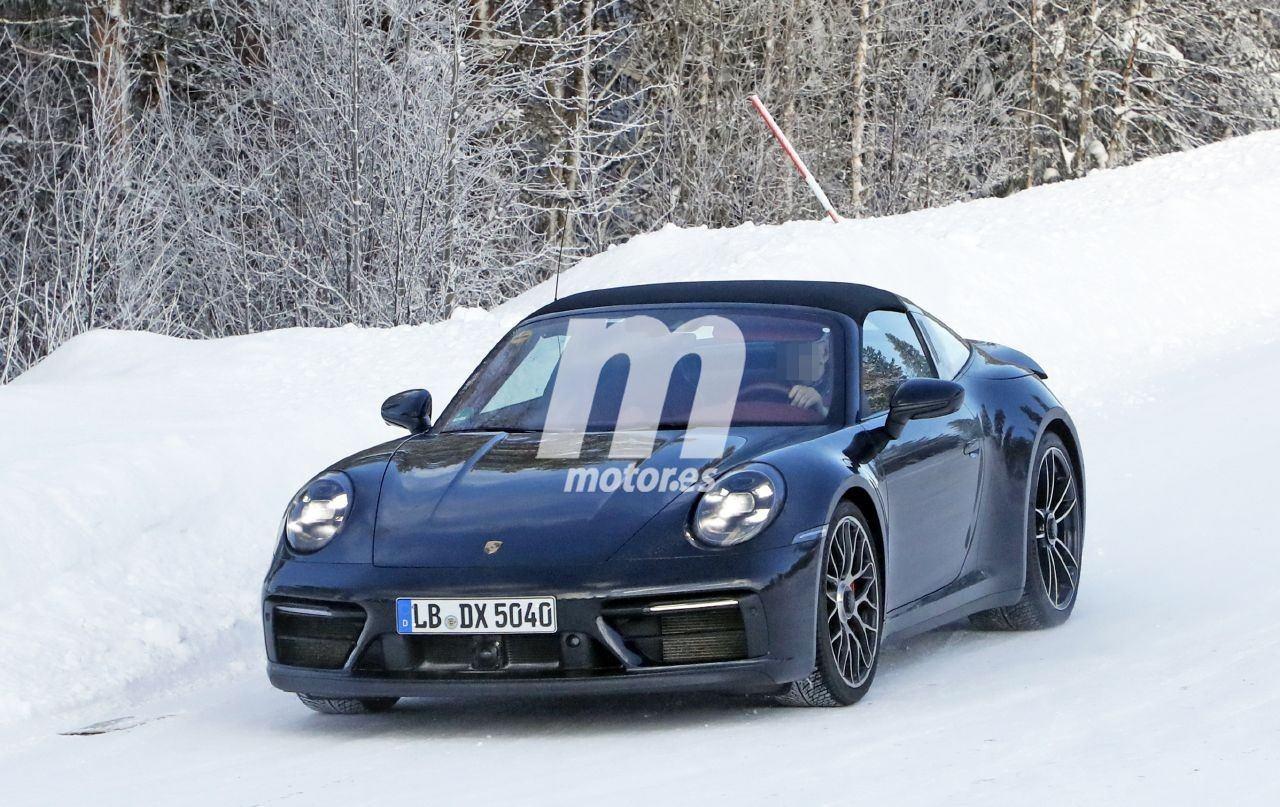 Nuevas fotos espía muestran al Porsche 911 GTS Targa 2020 sin camuflaje
