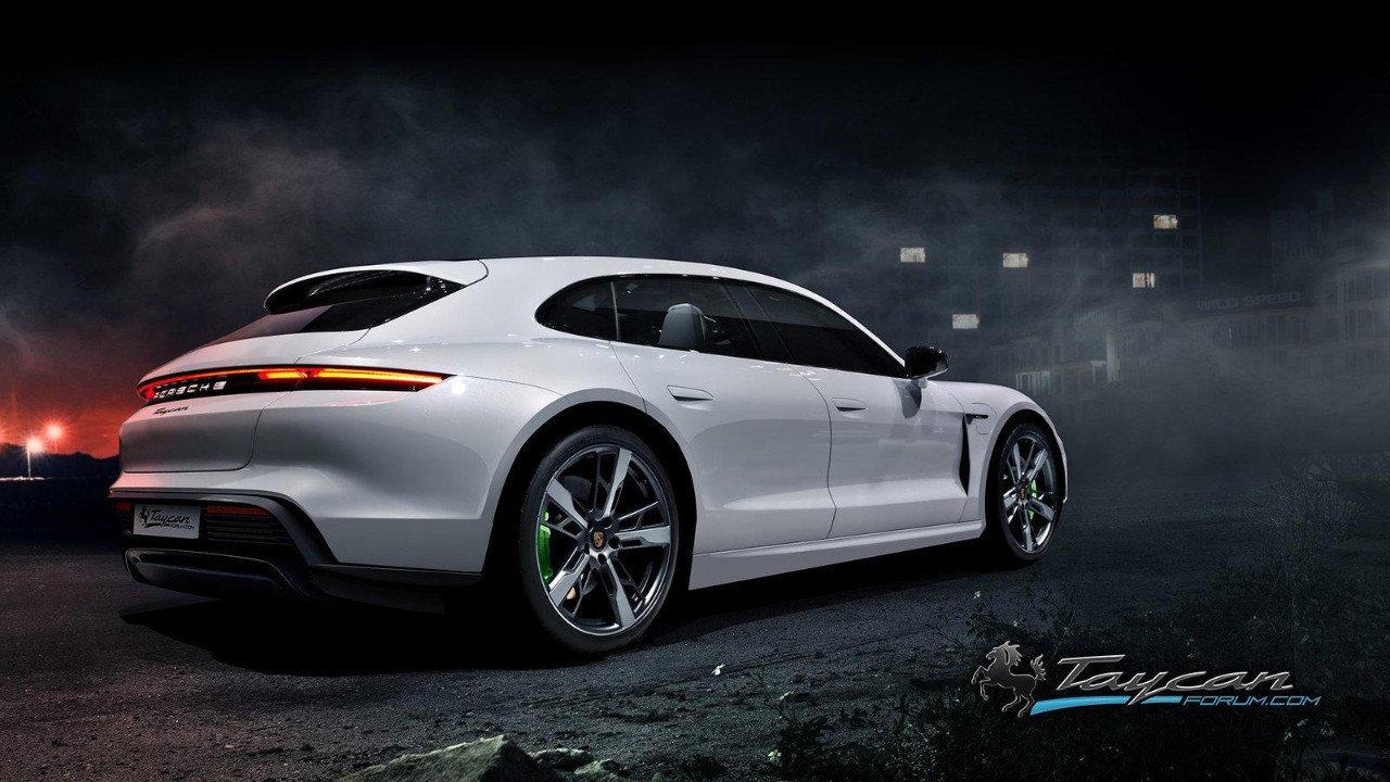 El futuro Porsche Taycan Sport Turismo ya se deja ver en estos renders