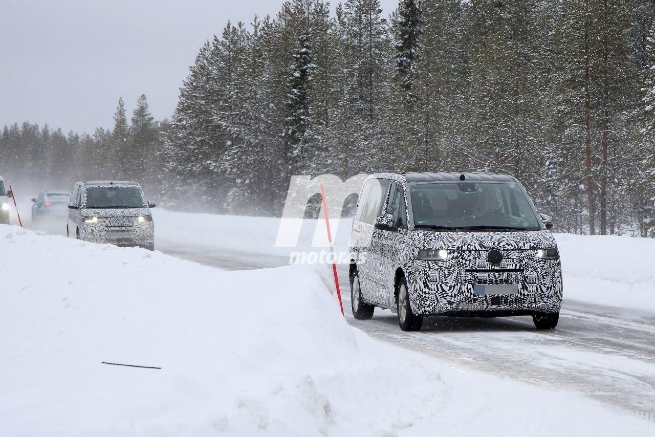 Nuevas fotos espía desvelan el nuevo Volkswagen T7 GTE, la versión híbrida enchufable