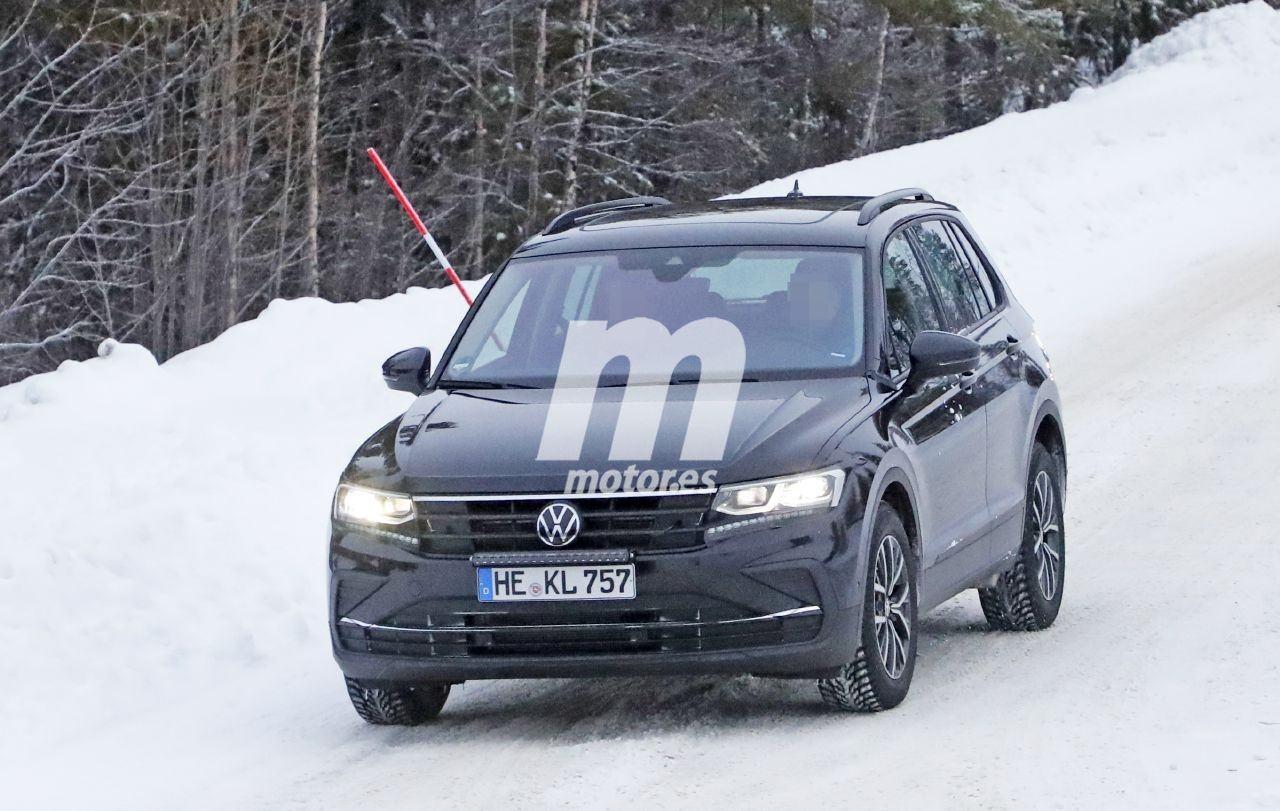 El facelift del Volkswagen Tiguan 2020, sorprendido al desnudo en las pruebas de invierno