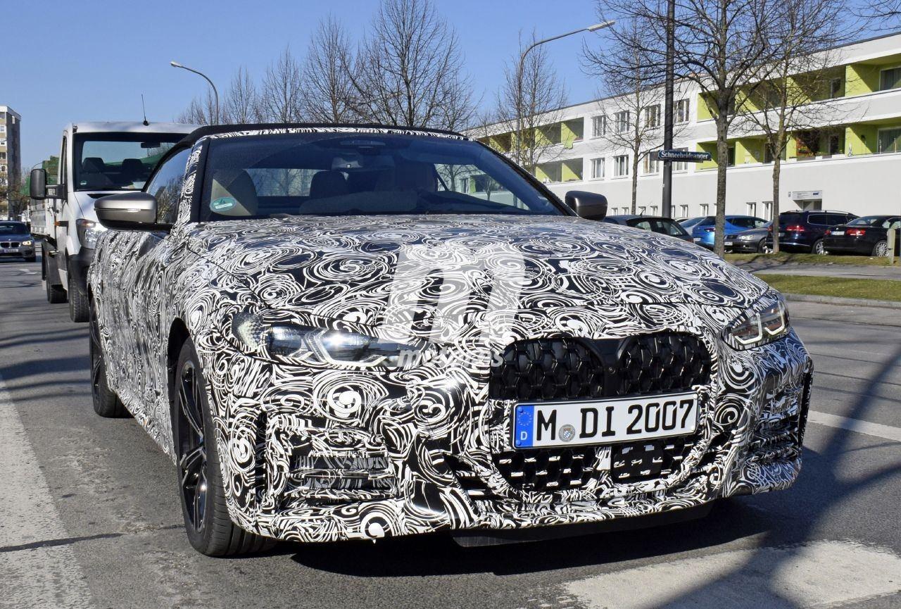 Nuevas fotos espía muestran la deportividad de M Performance en el BMW Serie 4 Cabrio 2021