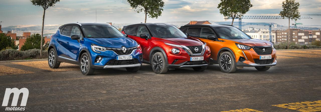 Comparativa B-SUV, Renault Captur, Peugeot 2008 y Nissan Juke (Con vídeo)