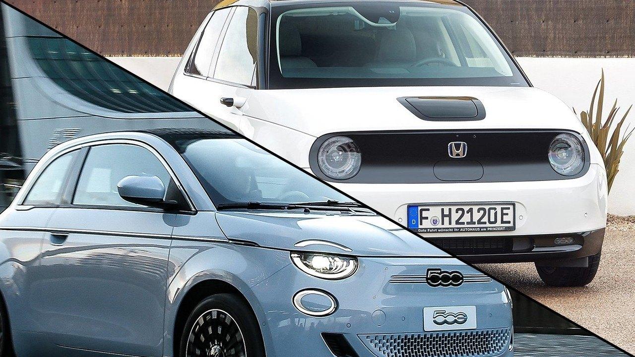 Honda e vs Fiat 500, ¿qué coche urbano eléctrico es más interesante?