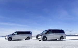 Mercedes explica los ensayos de frío extremo del nuevo eléctrico EQV en Suecia