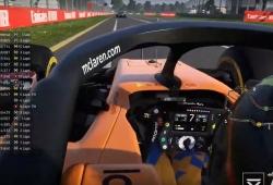Lando Norris, 6º, mejor clasificado de los profesionales en el 'No GP de Australia' online