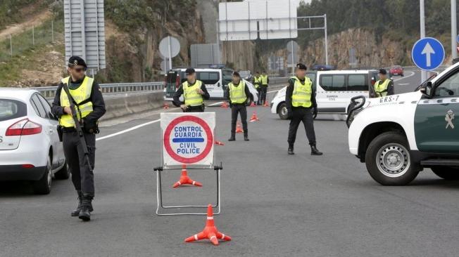 Corte de carreteras por el estado de alarma causado por el coronavirus