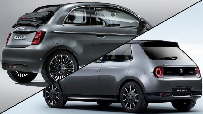 Fiat 500 eléctrico vs Honda e