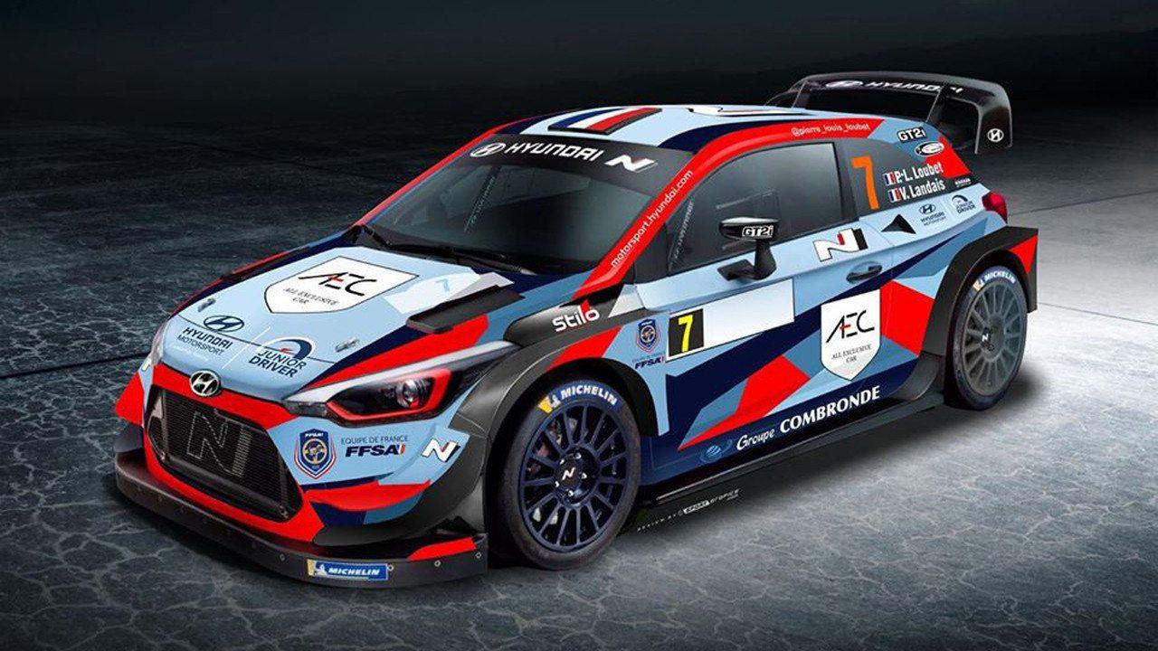 Pierre-Louis Loubet presenta la librea de su Hyundai i20 WRC Coupé