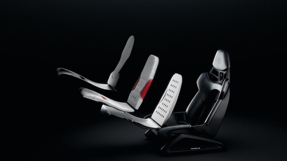 Porsche presenta la tecnología de impresión 3D para tapizar los asientos de cubo