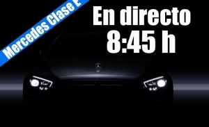 Sigue en directo la presentación del nuevo Mercedes Clase E 2020