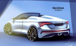 Skoda Scala Spider, dos bocetos del nuevo one-off de la Academia de diseño de Skoda