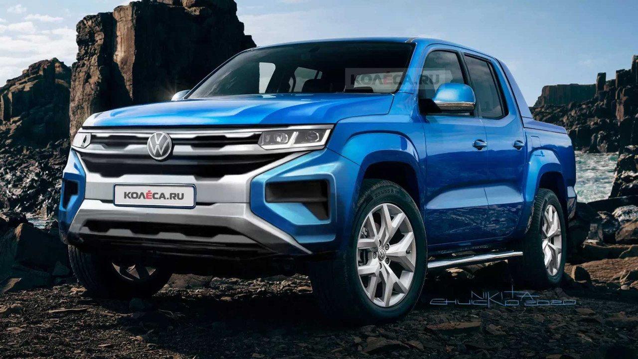 Así será el Volkswagen Amarok 2022 según el boceto de la marca
