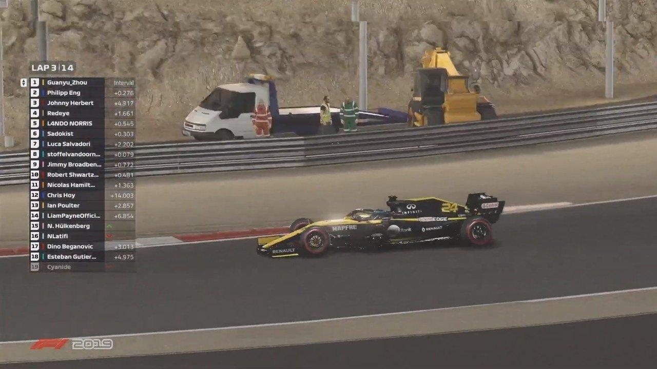Zhou gana el GP virtual de Bahréin; Vandoorne y Eng cierran el podio