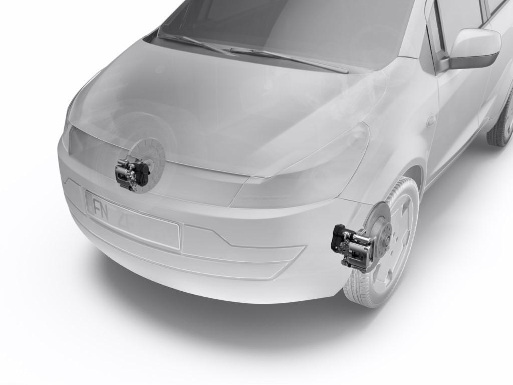 ZF presenta un freno de estacionamiento eléctrico para el eje delantero
