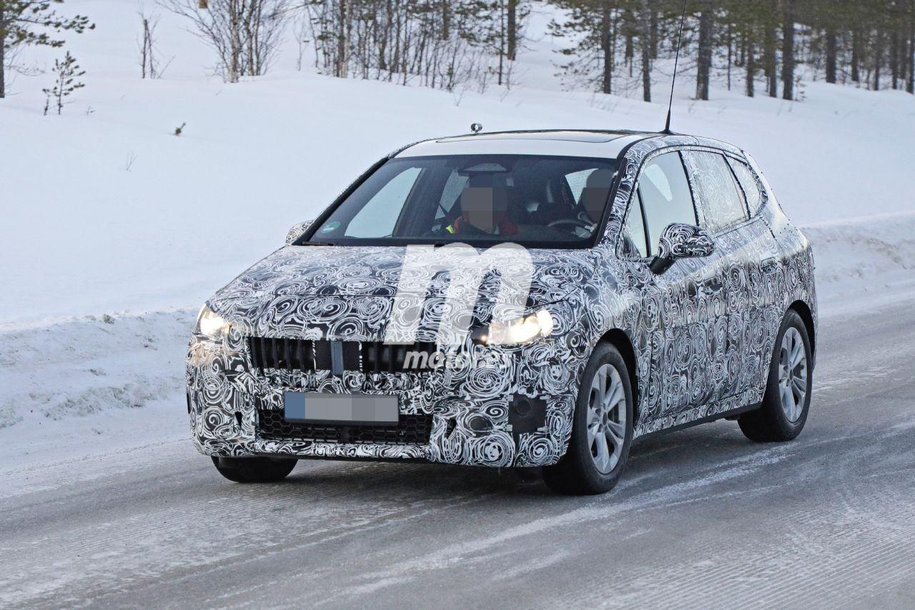 El nuevo BMW Serie 2 Active Tourer 2021 vuelve a las pruebas de invierno, con nuevos detalles