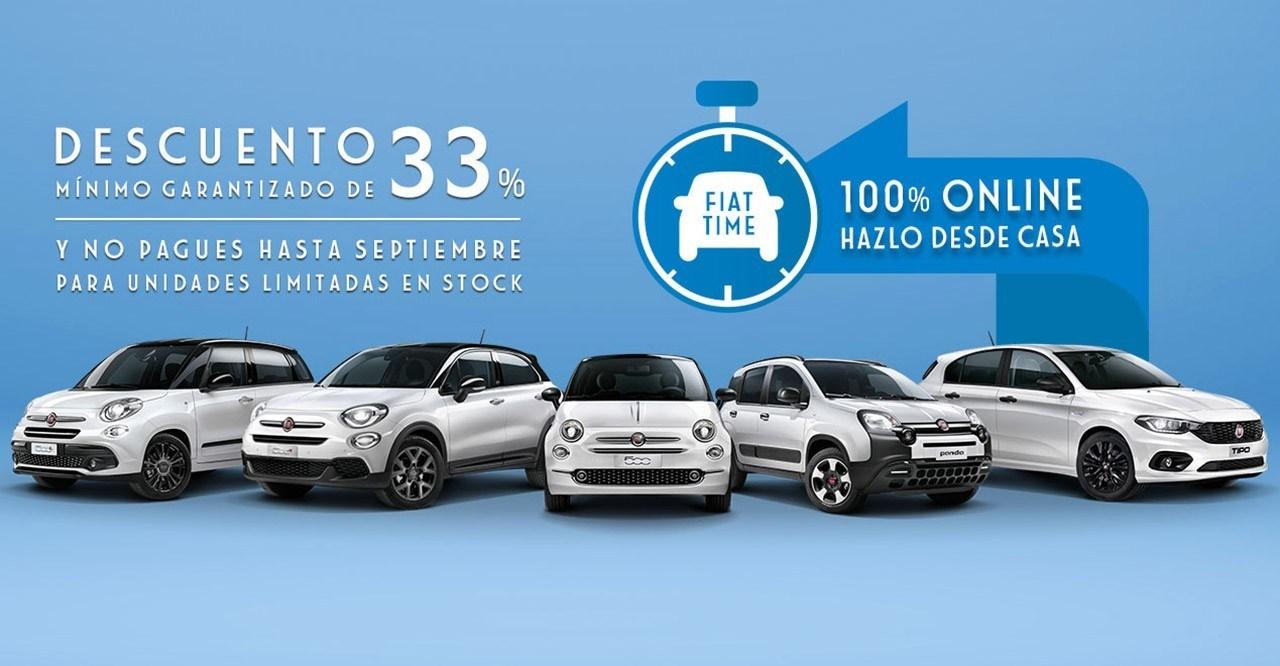 Fiat presenta la campaña Time que ofrece un descuento mínimo del 33%