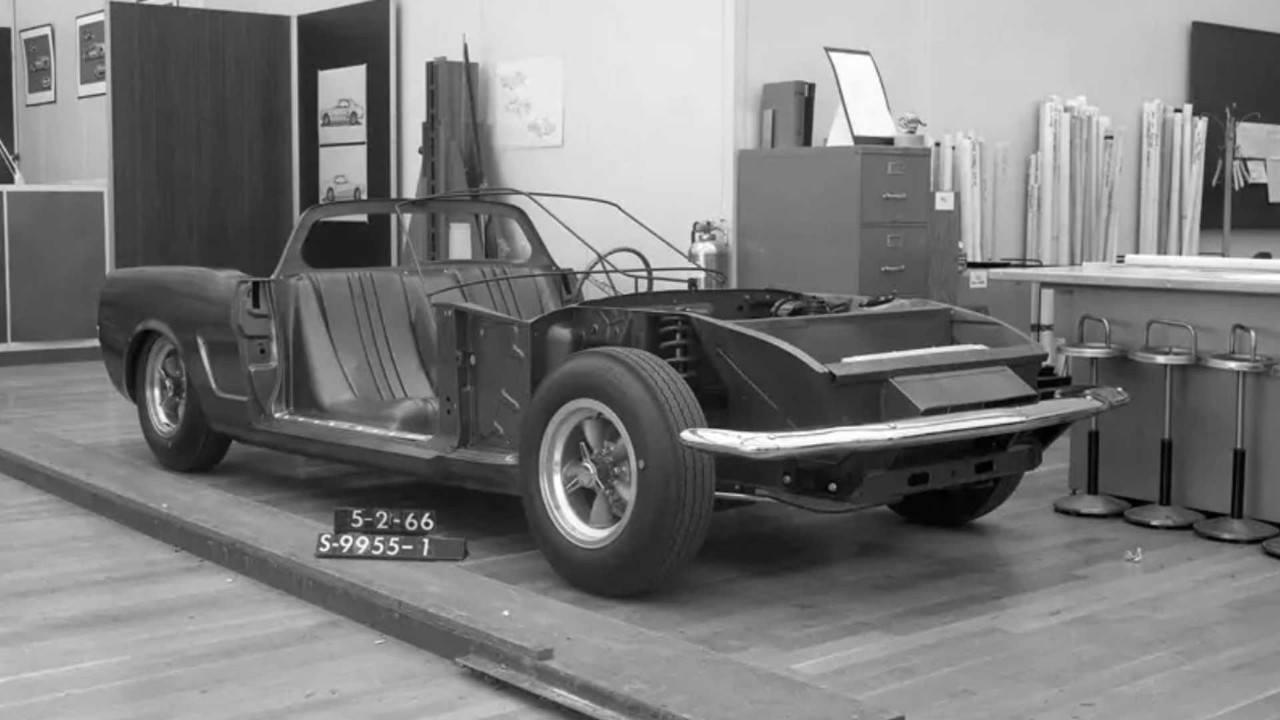 Ford desvela un antiguo proyecto secreto del Mustang con motor central