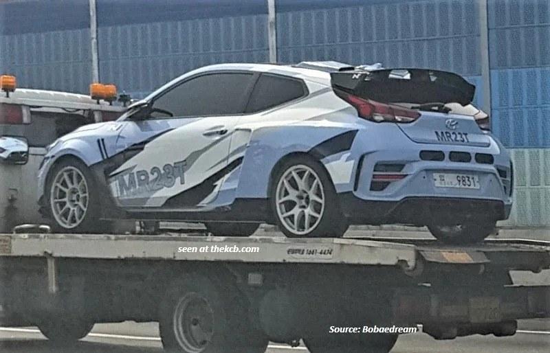Cazan la mula de pruebas del futuro deportivo de Hyundai N basado en el RM19