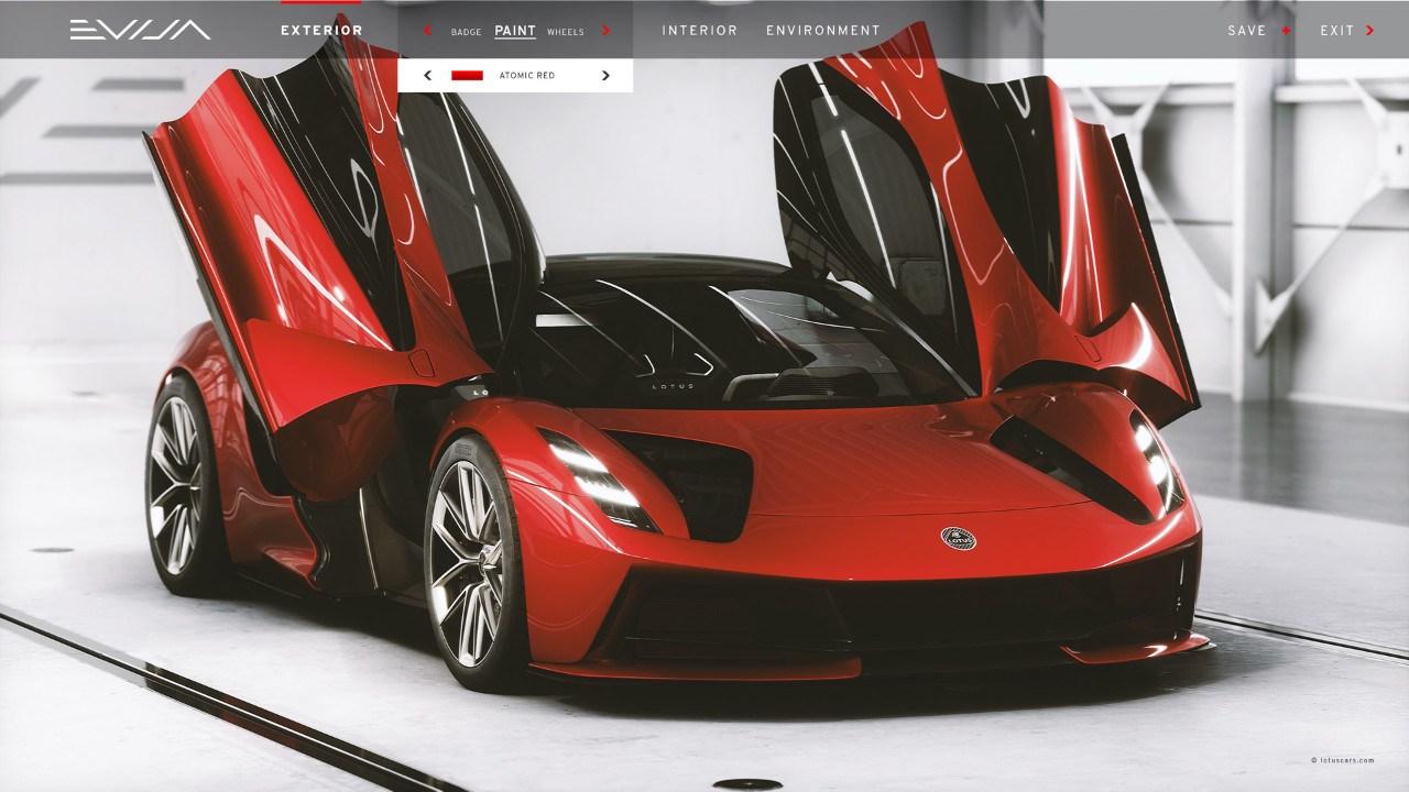 El Lotus Evija estrena el configurador digital más avanzado