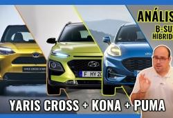 Toyota Yaris Cross vs Hyundai KONA vs Ford Puma, los B-SUV ECO frente a frente (Con vídeo)