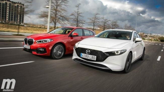 BMW Serie 1 y Mazda3