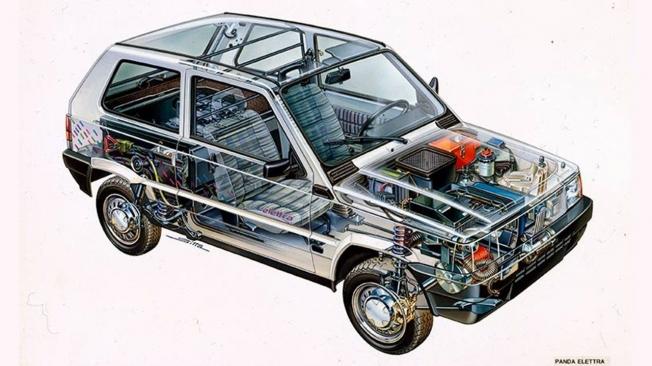 Fiat Panda Elettra - interior