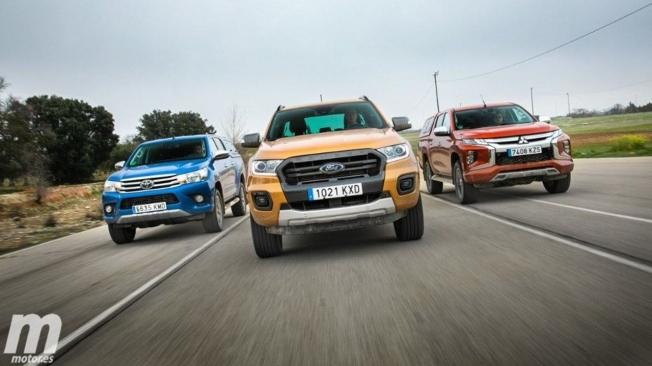 Toyota Hilux, Ford Ranger y Mitsubishi L200