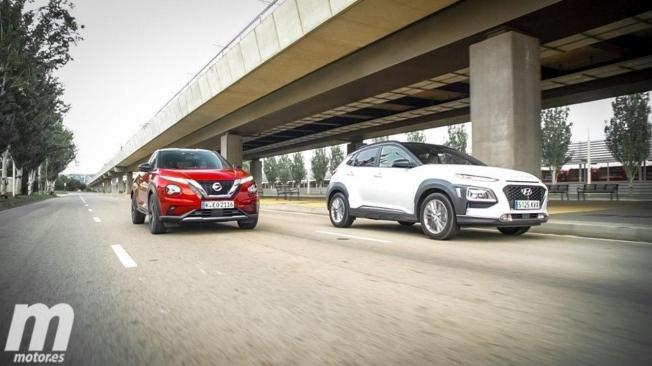 Nissan Juke y Hyundai Kona
