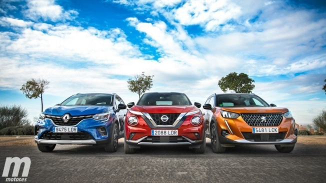 Renault Captur, Nissan Juke y Peugeot 2008
