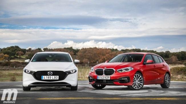 Mazda3 y BMW Serie 1