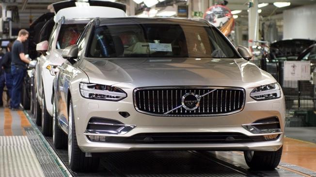 Producción del Volvo V60 en Suecia