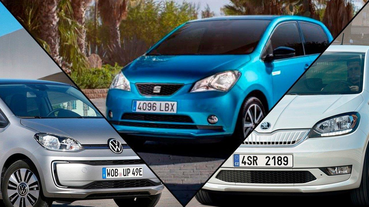 SEAT Mii electric vs Volkswagen e-up! vs Skoda Citigoe iV, ¡movilidad urbana eléctrica!