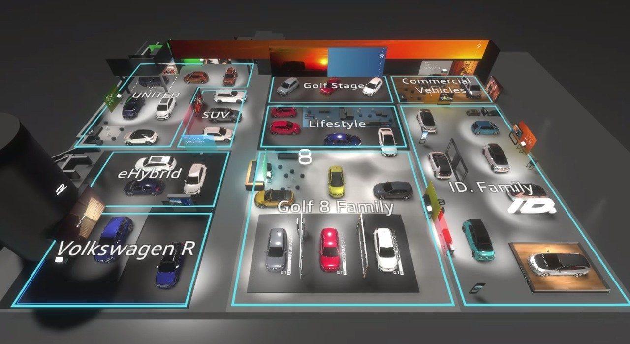 La realidad virtual muestra el stand de Volkswagen en el Salón de Ginebra 2020