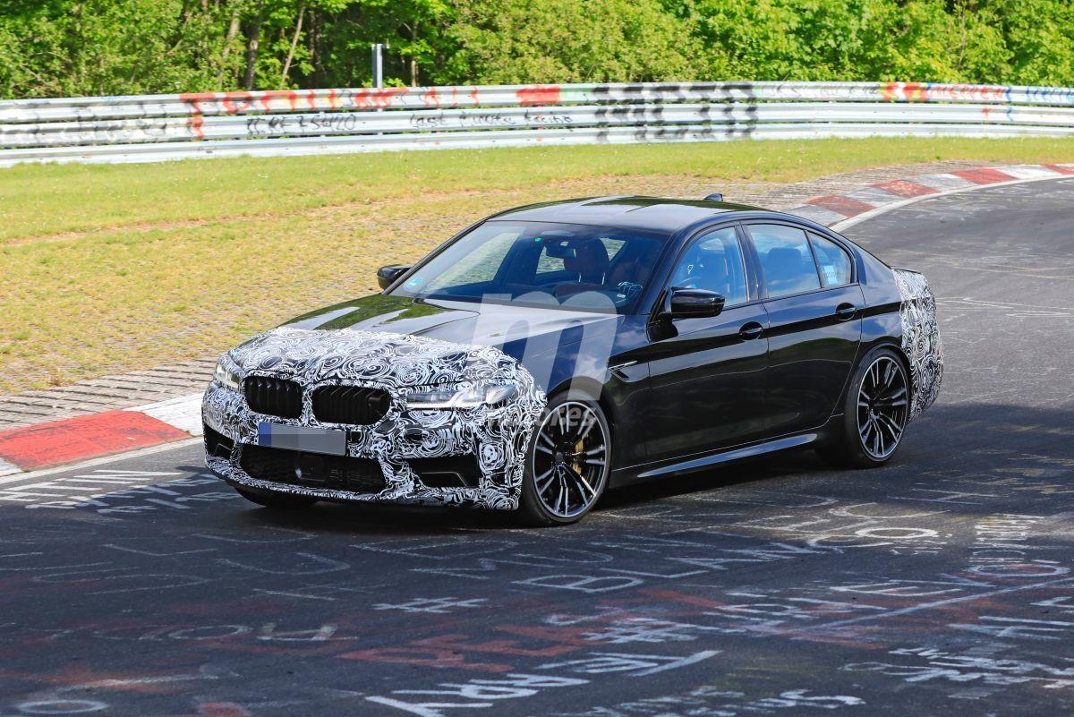 El futuro BMW M5 facelift se deja ver por primera vez en Nürburgring