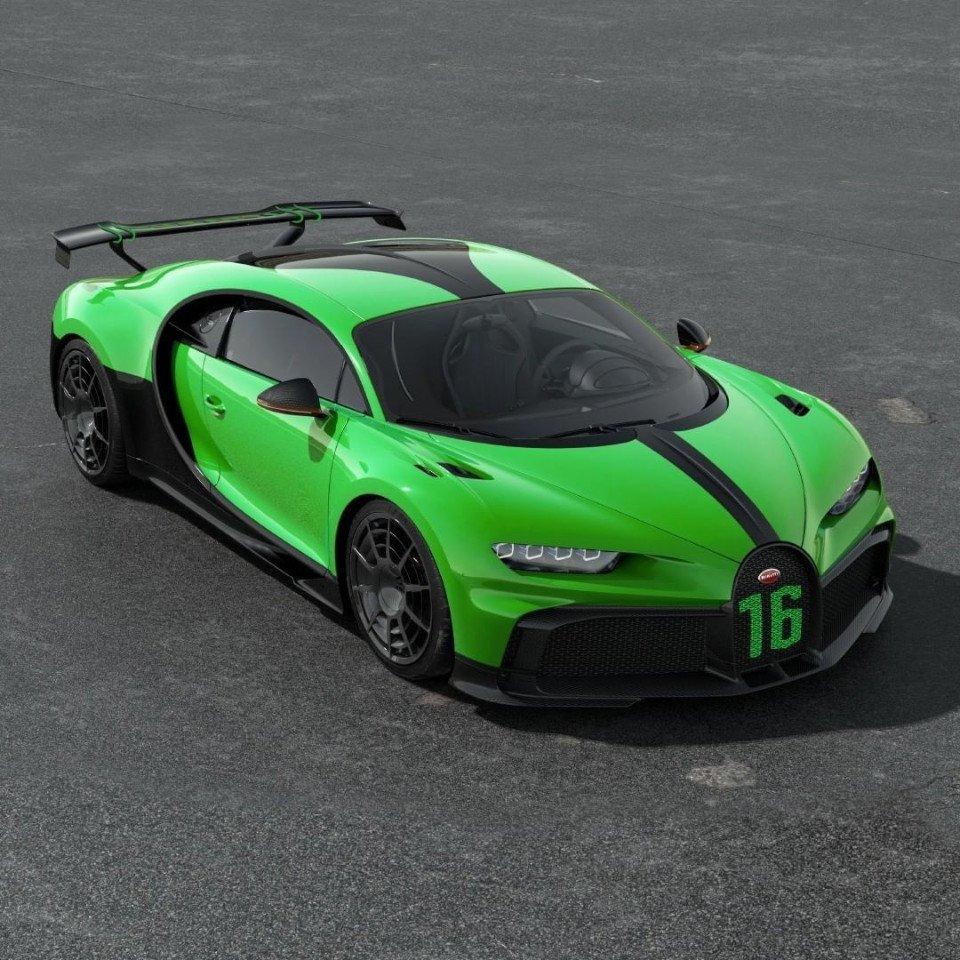 Bugatti nos muestra el primer Chiron verde que hemos visto nunca