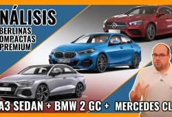 Audi A3 Sedan vs BMW Serie 2 Gran Coupé vs Mercedes CLA, el tridente de berlinas compactas premium